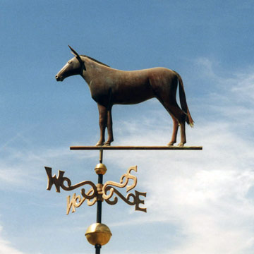 Custom Mule Weathervane