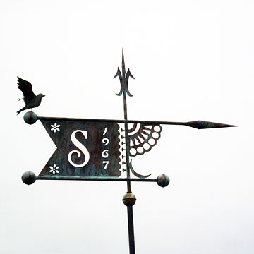 Initial Bannerette Any Style Weathervane