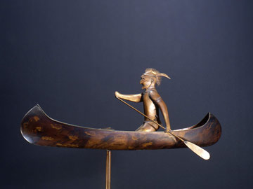 Native Paddeler Weathervane