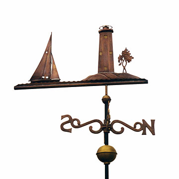 Star  Boat  Lake Sunapee Weathervane