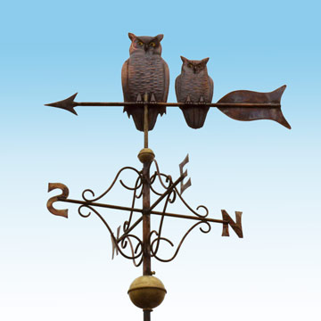 Owls Weathervane