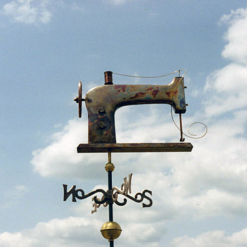 Sewing Machine Weathervane