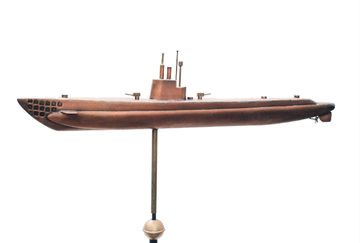 WW2 Attack Submarine  Weathervane