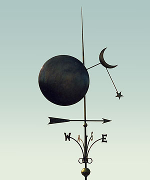 Sun Moon Star Weathervane