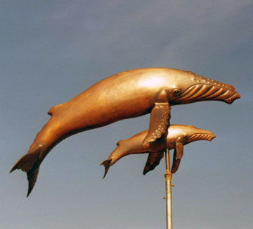 Humpback Whale With Calf Weathervane
