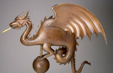 Handmade Copper Dragon Weathervane