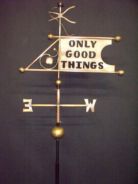 Only Good Things Banner Weathervane