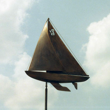 Custom Race Boat Weathervane