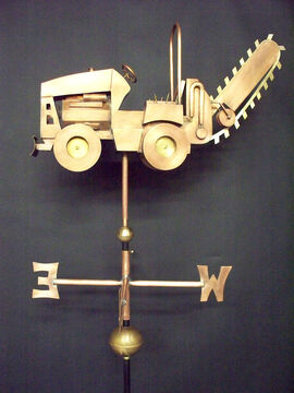 Ditch Witch Weathervane