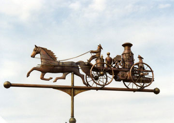 Antique Fire Engine Weathervane