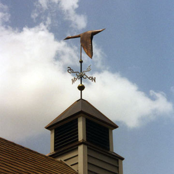 Down Wing Goose Weathervane