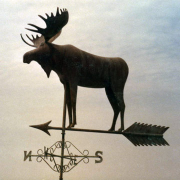 Moose With Arrow Weathervane