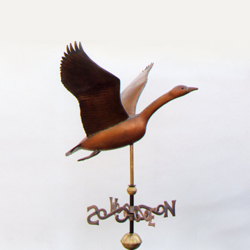 Goose In Flight Weathervane