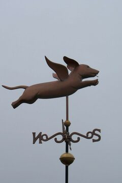 Flying Dachshund Weathervane