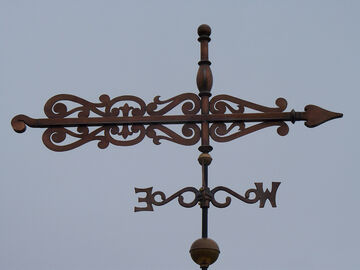 Custom Scroll Banner Weathervane