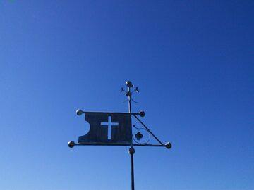 Cross Banner Weathervane