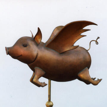 When Pigs Fly Weathervane
