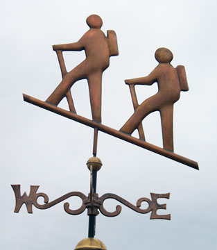Hikers Weathervane