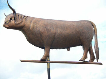 Scottish Highlander Bull Weathervane