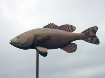Smallmouth Bass Weathervane