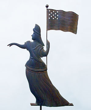 Goddess Of Liberty Weathervane