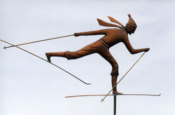 Cross Country Skier Weathervane