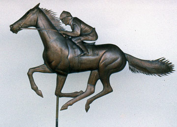 Limited Edition Race Horse Weathervane