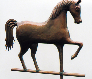 Rare Molded Horse Weathervane
