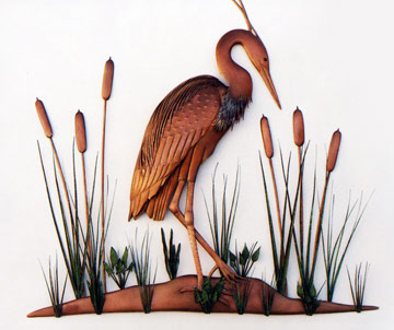 Heron With Cattails
