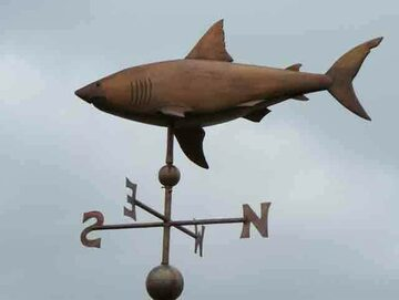 Great White Shark Weathervane